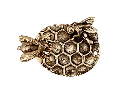 Green Girl Bronze Honeycomb Toggle Clasp 40x29mm