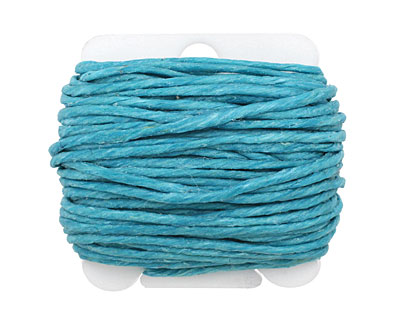 Turquoise Irish Waxed Linen 12 ply