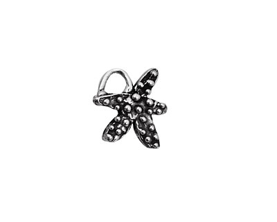 Rustic Charms Sterling Silver Starfish Charm 18x15mm