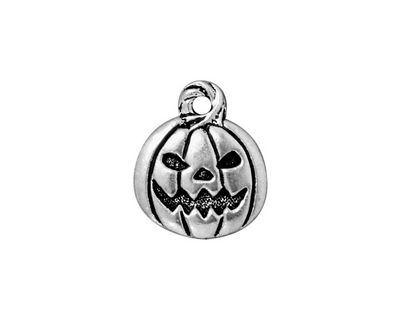 TierraCast Antique Silver (plated) Jack O'Lantern Charm 15x18mm