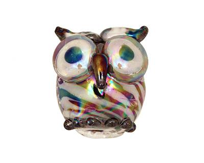 Unicorne Beads Burly Chubby Owl 20x19mm