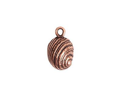 Nunn Design Antique Copper (plated) Snail Charm 10x16mm