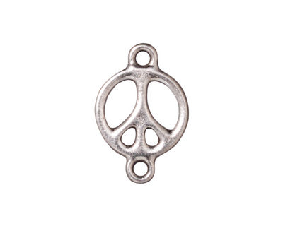 TierraCast Rhodium (plated) Peace Link 15x22mm