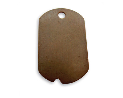 Vintaj Natural Brass Dog Tag Altered Blank 20x32mm
