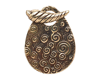 Saki Bronze Shell Toggle Clasp 31x42mm, 26mm bar