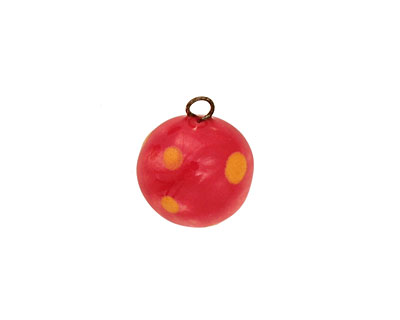 Jangles Ceramic Red Ball Charm 12-15mm