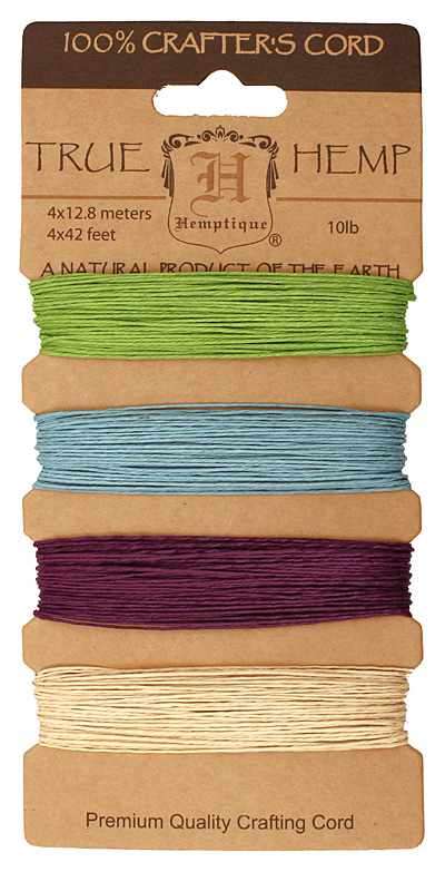 Spring Bloom #1 Hemp Twine 10 lb, 42 ft x 4 colors