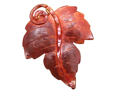 Patricia Healey Copper Large Maple Leaf Pendant 40x51mm