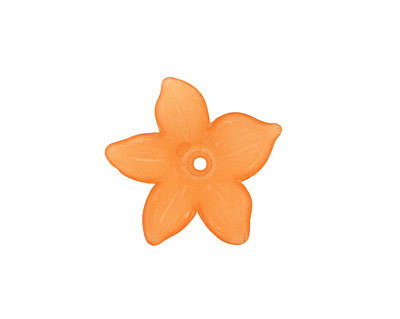 Lucite Tiger Lily 5 Petal Flower 2x20mm