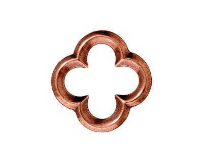 TierraCast Antique Copper (plated) Large Quatrefoil Link 21mm