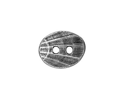 TierraCast Antique Pewter (plated) Oval Shell Button 17x14mm