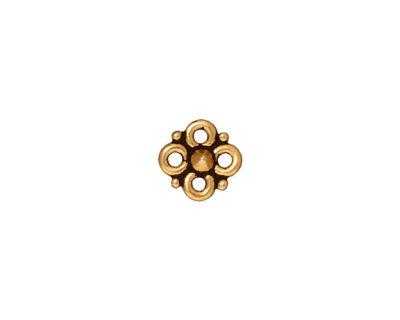 TierraCast Antique Gold (plated) Cloverleaf Link 8mm