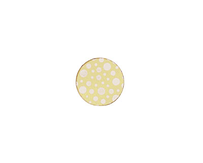 Lillypilly Gold Scattered Dots Anodized Aluminum Disc 11mm, 22 gauge