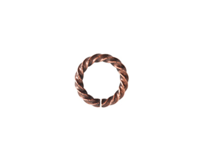 Nunn Design Antique Copper (plated) Large Rope Jump Ring 12mm