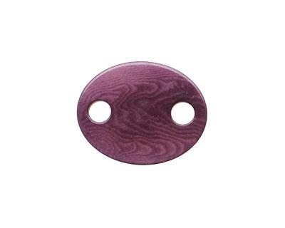 Tagua Nut Violet Oval Link 24x19mm
