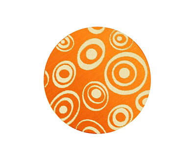 Lillypilly Orange Groovy Circles Anodized Aluminum Disc 25mm, 24 gauge
