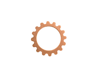 Copper Small Open Gear 16mm