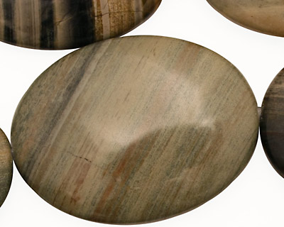 Silver Creek Jasper Flat Oval 40x30mm