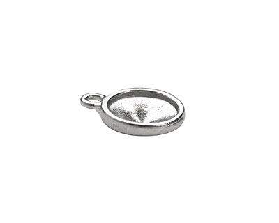 TierraCast Rhodium (plated) Faceted Drop 14x17mm