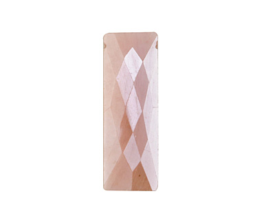 Peach Moonstone w/ Mystic Luster Faceted Rectangle Drop 8-10x26-30mm