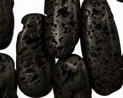 Lava Rock Irregular Rectangular Drop 14-16x30-45mm