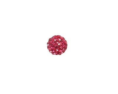 Fuchsia Pave Round 8mm (1.5mm hole)