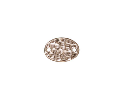 TierraCast Rhodium (plated) Hammered Oval Link 13x9mm
