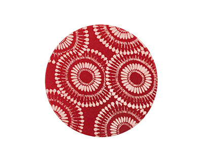 Lillypilly Red Dandelion Anodized Aluminum Disc 25mm, 24 gauge