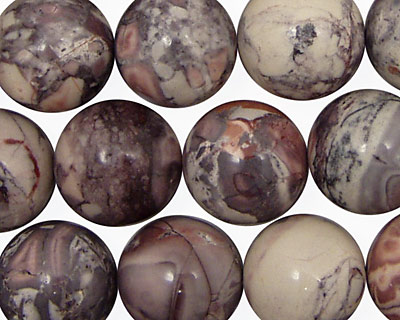 Porcelain Jasper Round 14mm