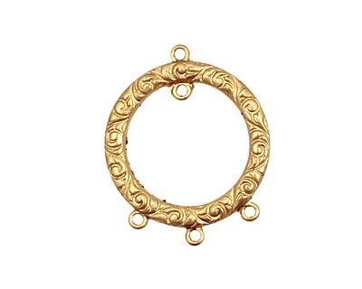 Brass Scrolling Gypsy Hoop Chandelier 21x25mm