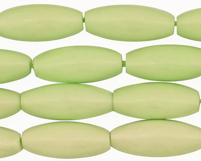 Lemon Chrysoprase 3-Sided Rice 18x8mm
