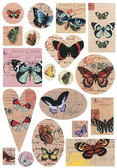 Nunn Design Butterflies Transfer Sheet