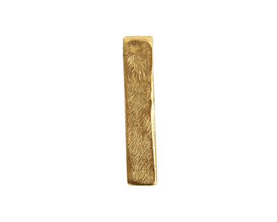 Nunn Design Antique Gold (plated) Organic Flat Rectangle Pendant 6x30mm