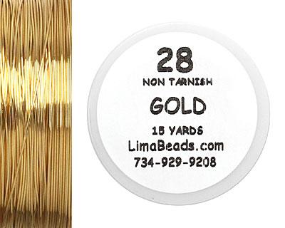 Parawire Non-Tarnish Gold 28 Gauge, 15 Yards