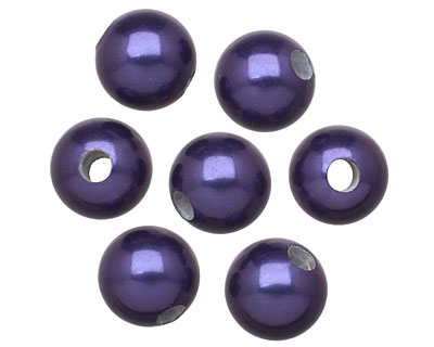 Navy Shell Pearl Round (large hole) 10mm