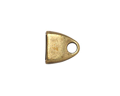 Antique Brass (plated) Triangle Loop End 13mm
