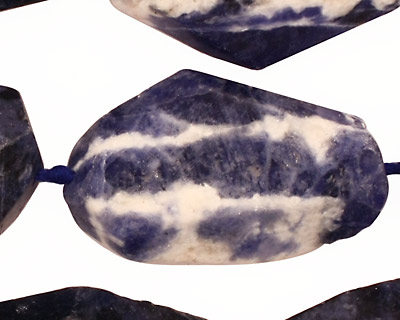 Sodalite Faceted Nugget 28-40x15-22mm