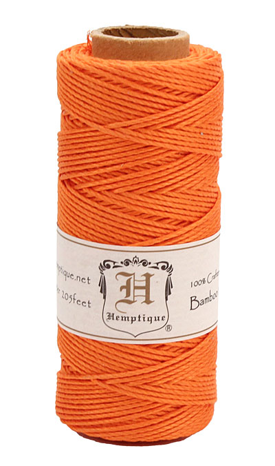 Neon Orange Bamboo Cord 20 lb, 205 ft