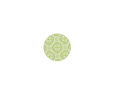 Lillypilly Lime Green Baroque Anodized Aluminum Disc 11mm, 24 gauge