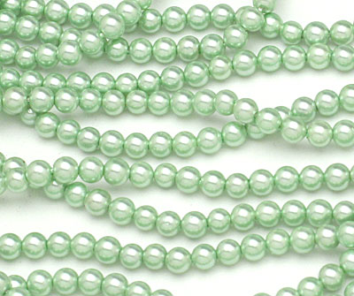 Mint Shell Pearl Round 4mm