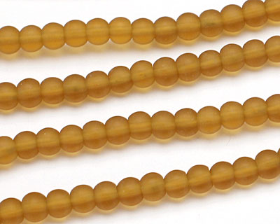 Amber Recycled Glass Round 4mm