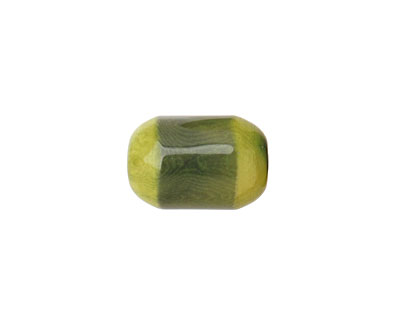 Tagua Nut Forest Green Bicolor Barrel 23-24x16-17mm