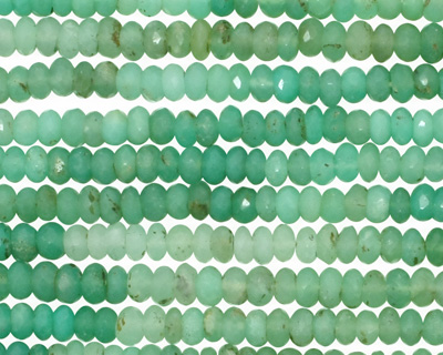 Chrysoprase (graduated color) Faceted Rondelle 3-4mm