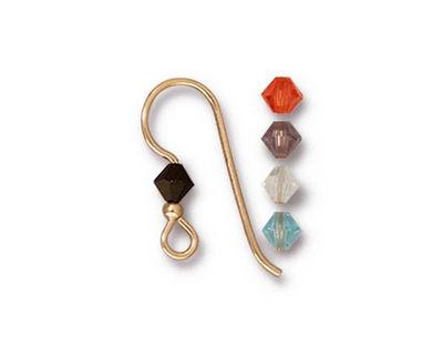 TierraCast Gold Filled Capri Crystal Mix Earwire w/ 2mm Bead
