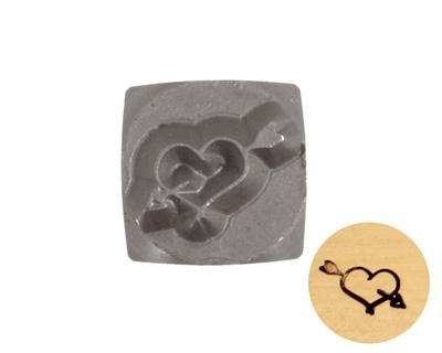 Heart w/ Arrow Metal Stamp 6mm