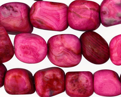 Ruby Crazy Lace Agate Tumbled Nuggets 10-22x10-12mm