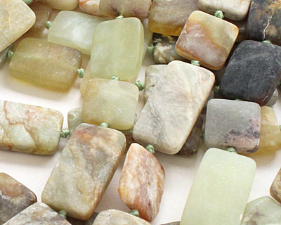 Antique Soochow Jade (matte) Thin Pillow Square Mix 15mm