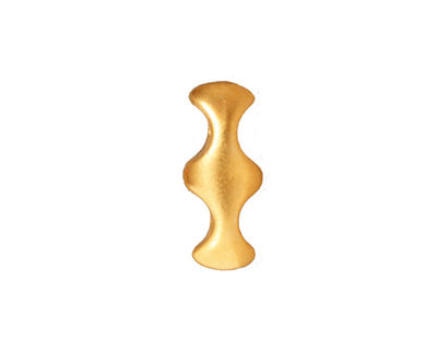 TierraCast Gold (plated) Hourglass 2-Hole Bar 8x19mm