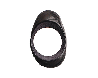 Tagua Nut Midnight Open Slice (side drilled) 33-45x24-36mm