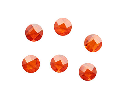 Poppy Faceted Coin 6mm